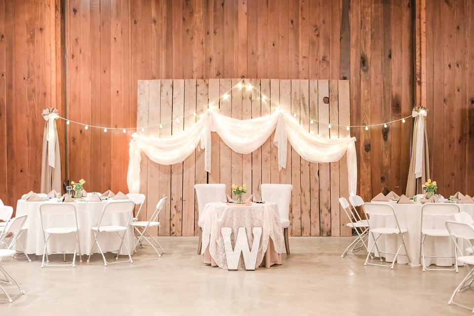 Spring Bowles Farm Wedding reception