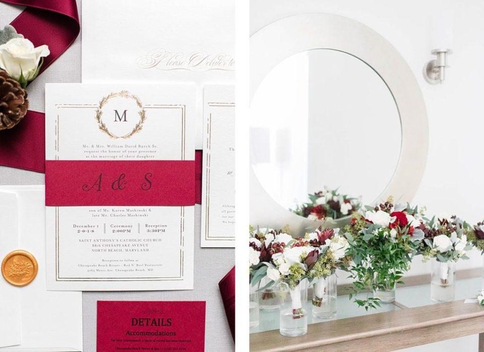 Red & White Wedding Invitation