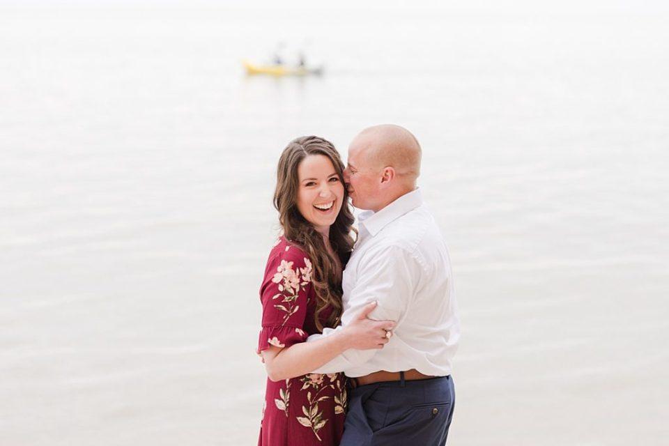 A Chesapeake Beach Spring Engagement