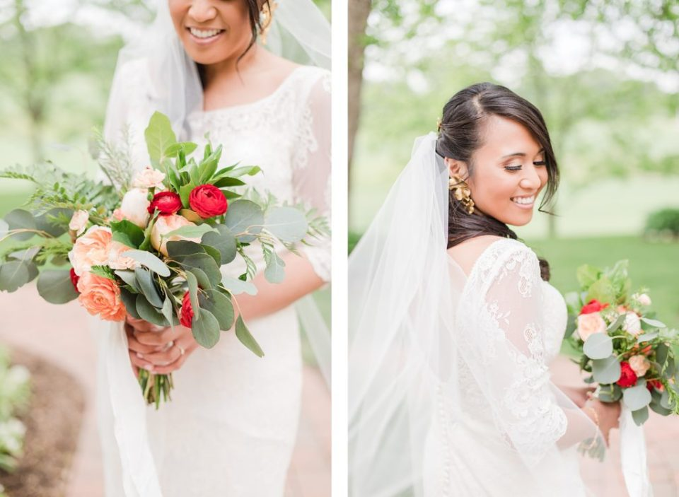 bride  at flora corner farm photographed by costola photography
