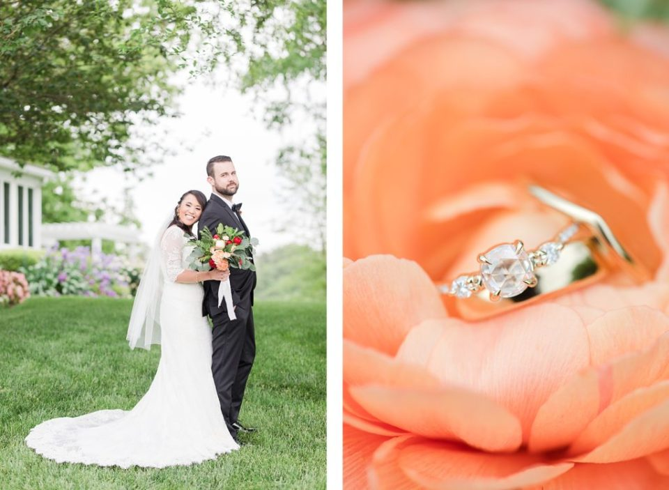 bride and groom portraits at flora corner farm photographed by costola photography