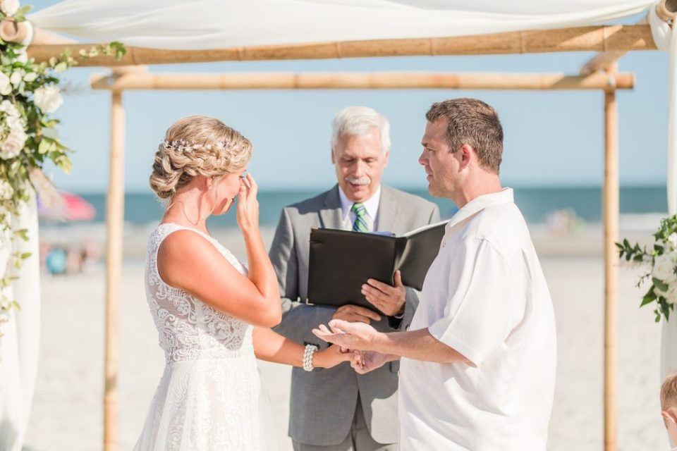 Ceremony for Wedding at the Beach House Resort by Costola photography