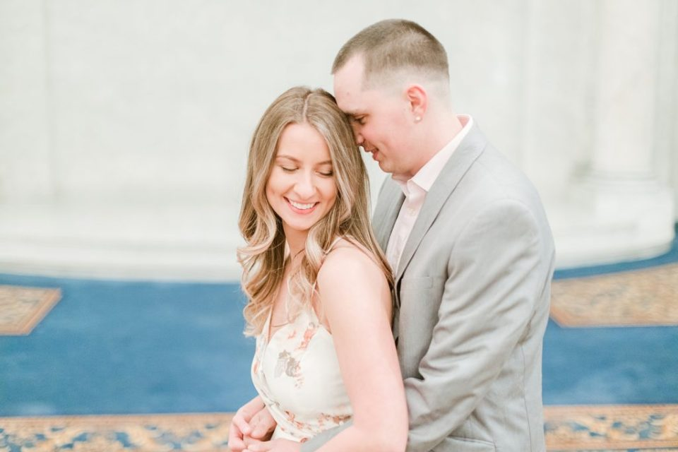 Engagement Session at The Grand Hotel In Baltimore Maryland