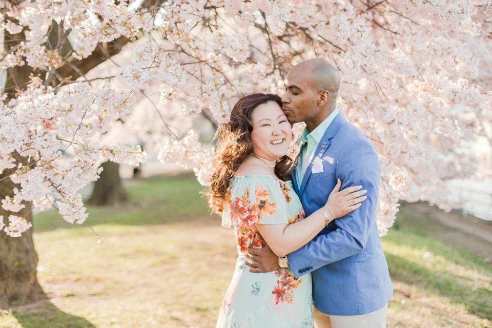 Washington D.C. Cherry Blossom Engagement Session by Washington D.C. Wedding Photographer Costola Photography