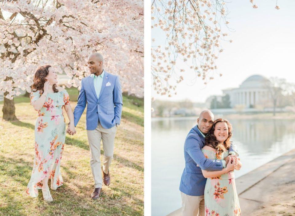 Washington D.C. Cherry Blossom Engagement Session by Washington D.C. Wedding Photographer Costola Photography