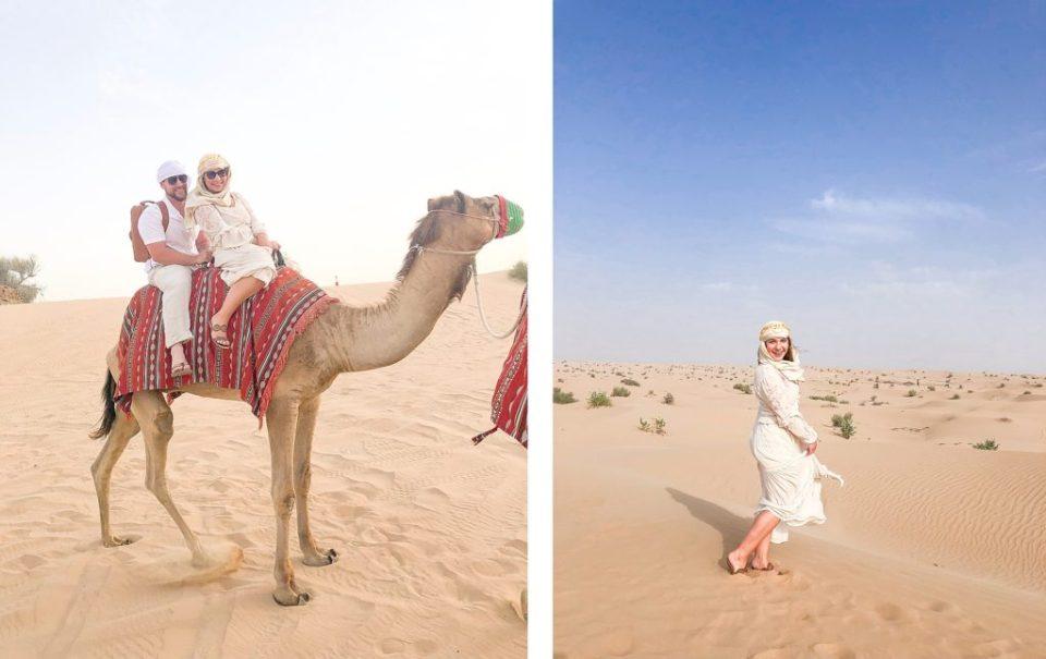 desert excursion in dubai camel rides