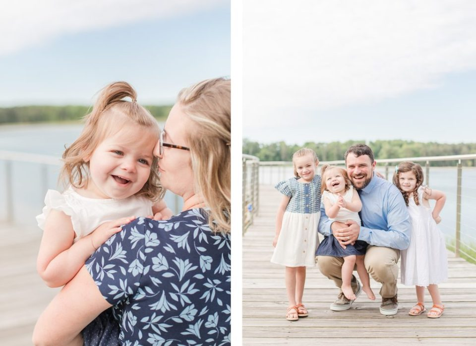 Family playing at Leonardtown Wharf by Costola Photography