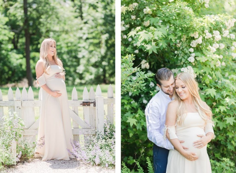 Summer Garden Maternity Session in Southern Maryland by Costola Photography