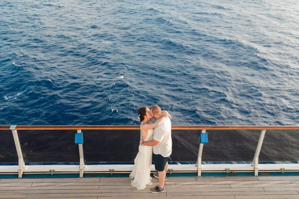 bride and groom sunset cruise wedding portraits by Costola Photography