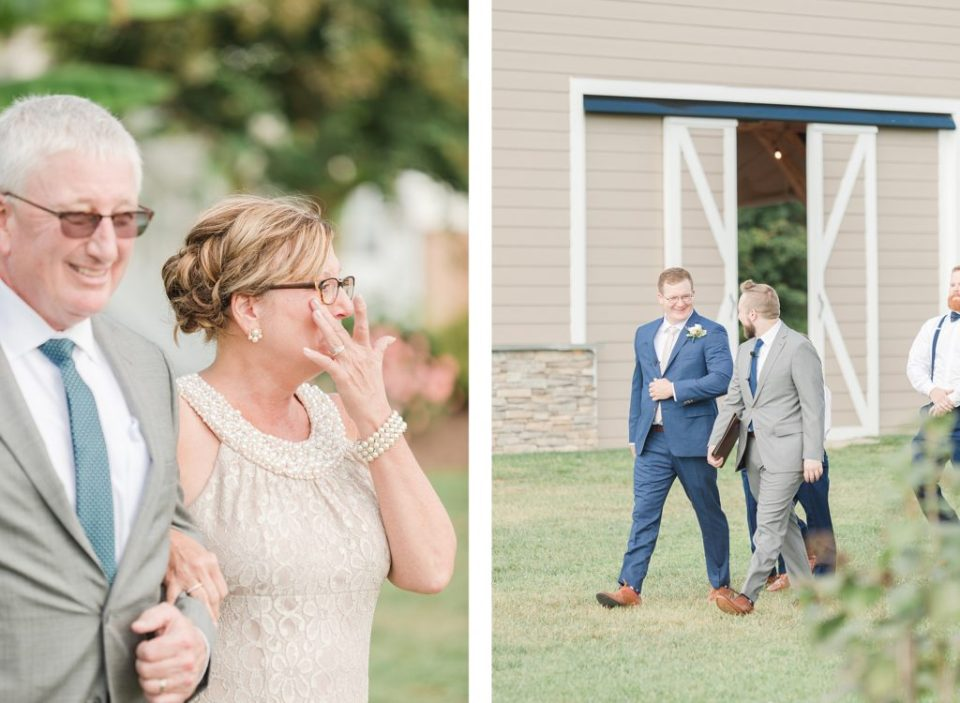 Ceremony Overlooking Water at Weatherly Farm photographed by Costola Photography