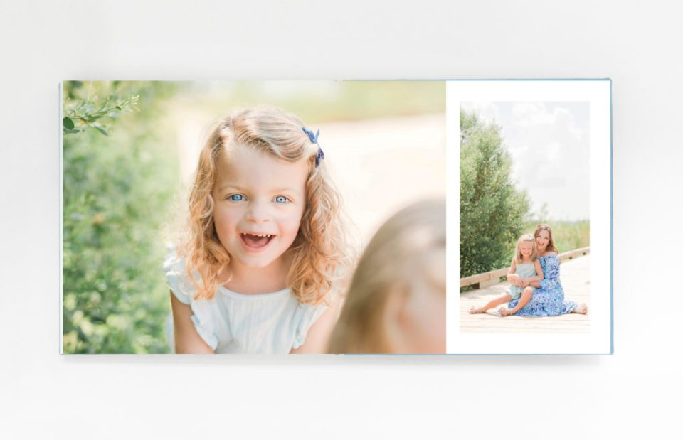 Portrait Album Design from Playful Beach Family Session in Southern Maryland by Costola Photography