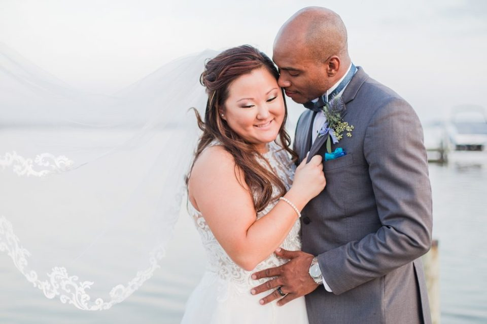 Bride and Groom Portraits at Wicomico River Farm Wedding by Costola Photography