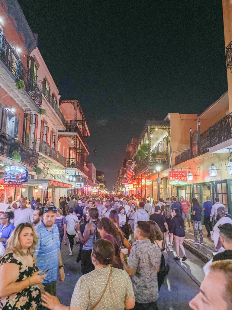 Bourbon Street in French Quarter NOLA
