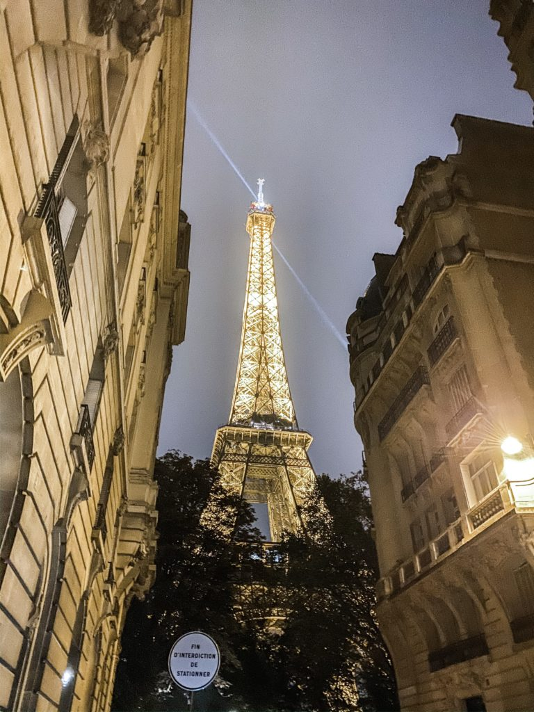 Eiffel Tower at Night by Costola Photography French France Wedding Photographers