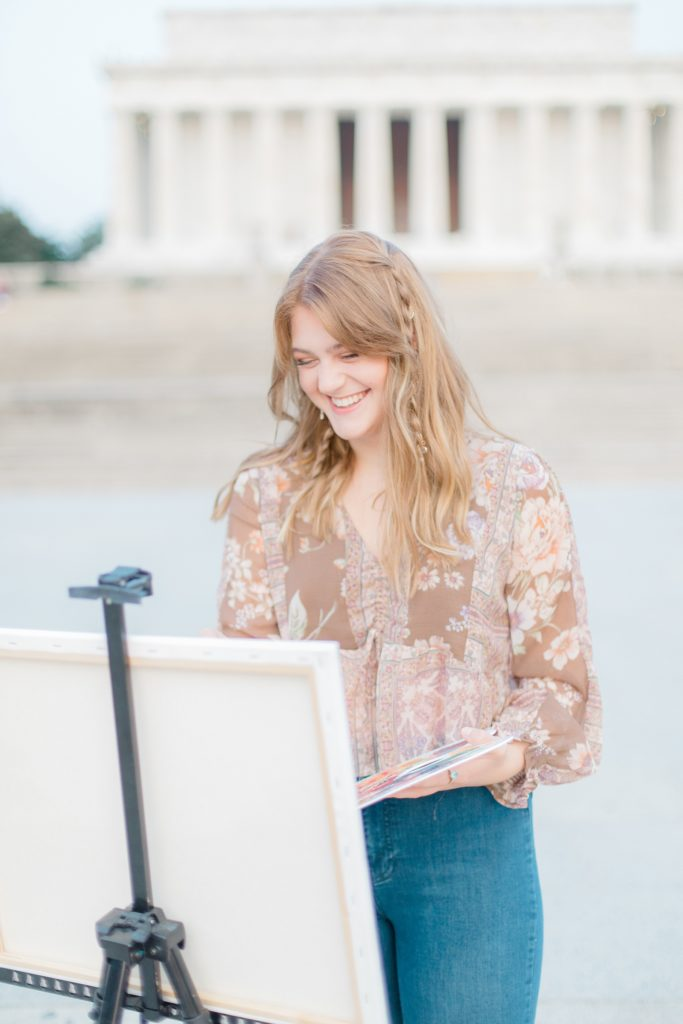 Washington DC Senior Session at National Mall and Lincoln Memorial by Costola Photography
