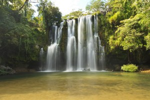 A popular picnic spot and swimming hole -  Llano de Cortes waterfall near Bagaces, Costa Rica