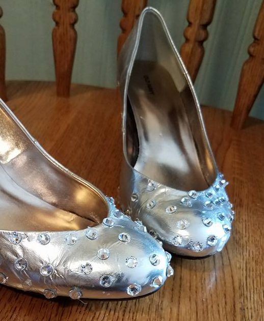 shoes with jewels