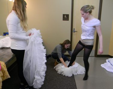 stepping into the mermaid petticoat