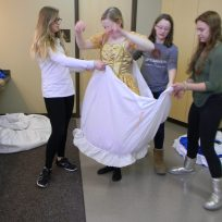 bagging up the skirts, Cinderella