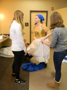 stepping out of the dress, Cinderella