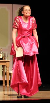 matching pink dress