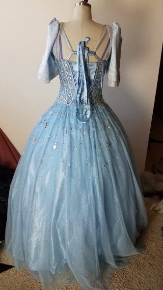 back of dress, Marie in Cinderella
