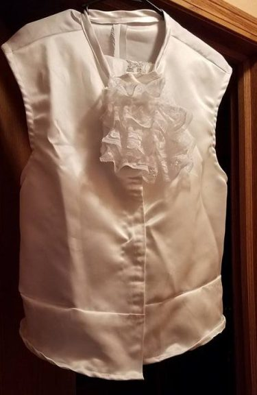 topher vest with attached jabot