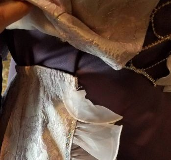 overskirt secured with velcro