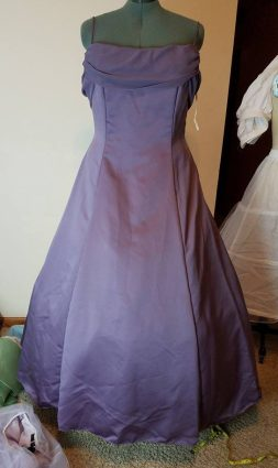 front of base dress with hoop