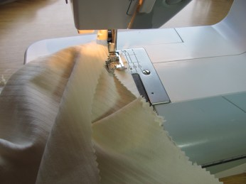 """fold the top edge under about 5/8"""" and stitch"""