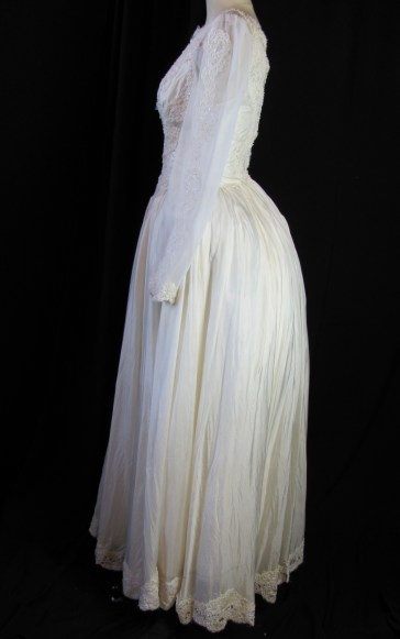 side of dress (with bum pad)