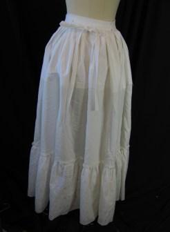 back of petticoat
