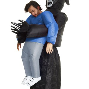 Inflatable Grim Reaper Pick Me Up Costume for an Adult