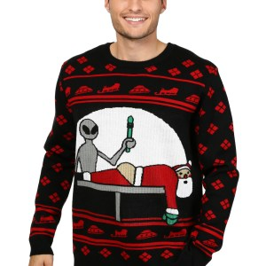 Men's Santa Probe Ugly Christmas Sweater