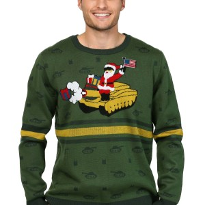 Men's Santa on Tank Ugly Christmas Sweater