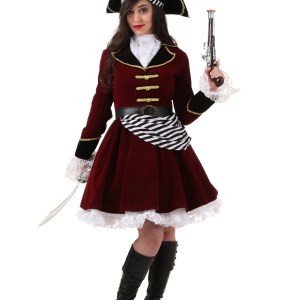 Plus Size Women's Captain Hook Costume with Hat 1X 2X 3X 4X 5X XL XXL XXXL