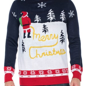 The Tipsy Elves Mens Yellow Snow Ugly Christmas Sweater