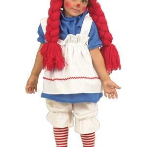 Girls Little Rag Doll Costume