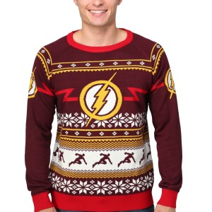 Flash Logo Ugly Christmas Sweater for Men
