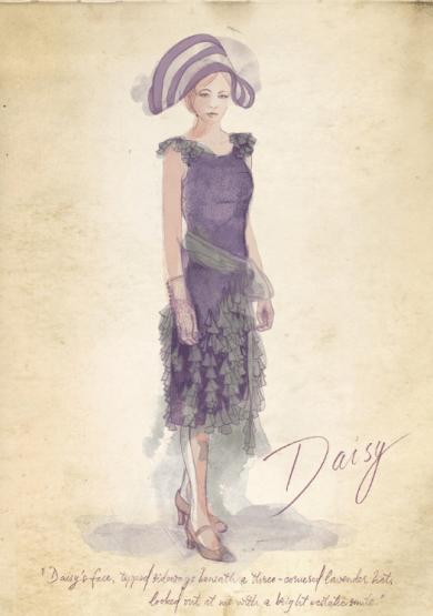 Daisy robe violette