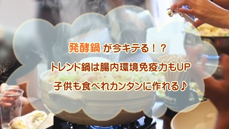 発酵鍋が今キテる!子供も食べれるトレンド鍋は腸内環境免疫力もUP