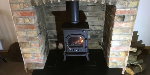 Installation of Low Cost Wood Burning Stove in Taunton