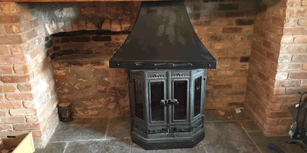 dovre 2000 wood burning stove installation taunton