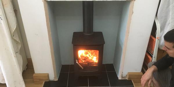 Owatta wood burnering stove installation Taunton