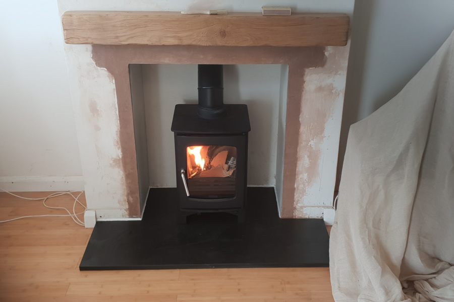 installation of woodburner in Cannington, Bridgwater