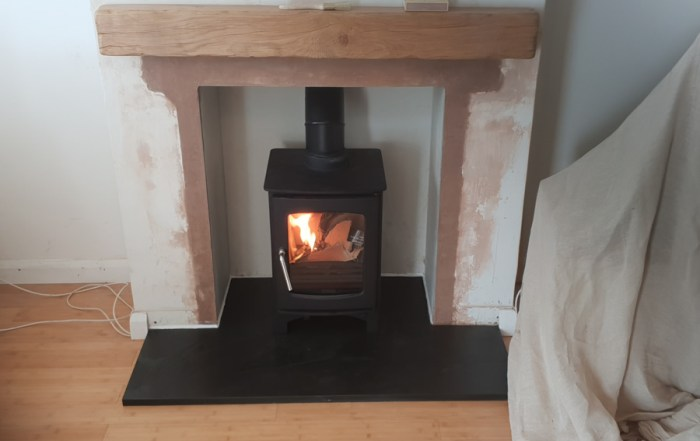 installation of woodburner in Cannington, Bridgwater