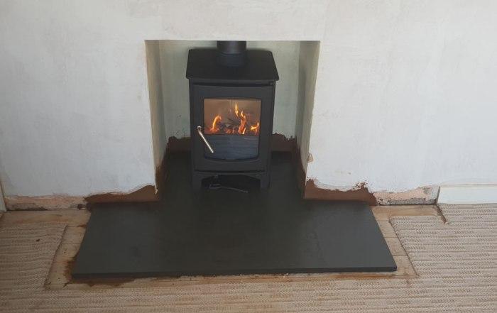 Installation of woodburner in Mark, near East Huntspill