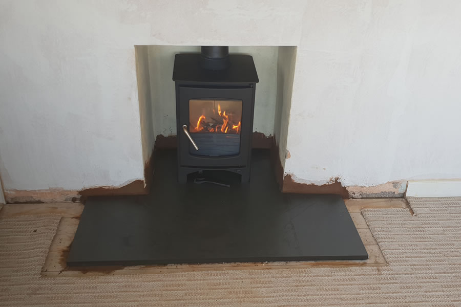 Installation of woodburner in Mark, near East Huntspill