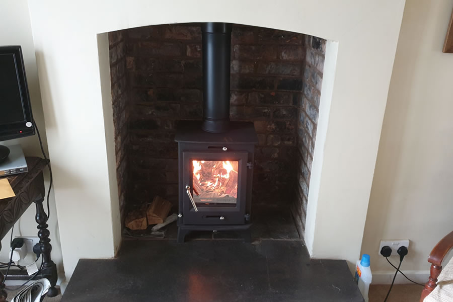 Ecosy Woodburner Installation in Porlock