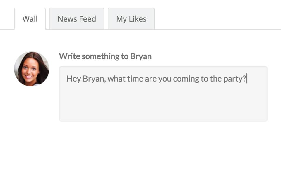 BuddyBoss Wall - интерактивная публикация на стену